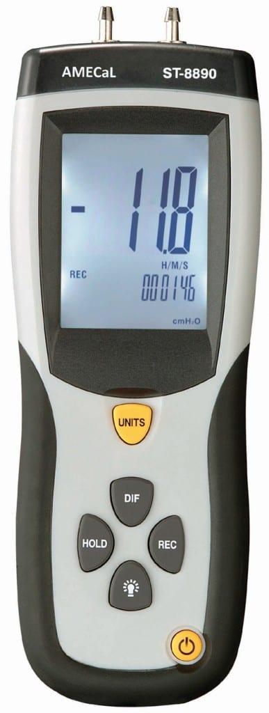 ST-8890 Differential Pressure Manometer Amecal