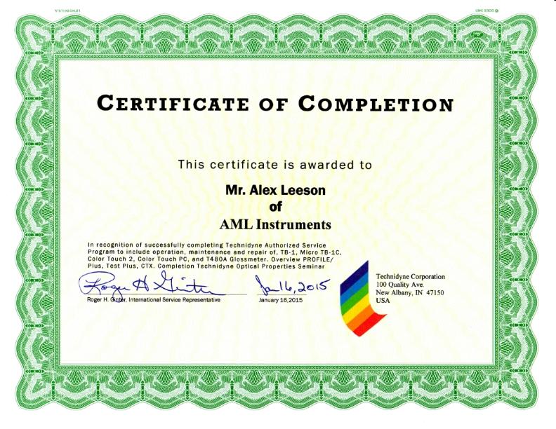 AML UK training Certificate