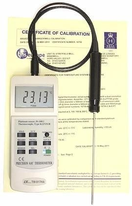 Digital Thermometer RTD With 6 Point UKAS CALIBRATION CERTIFICATE
