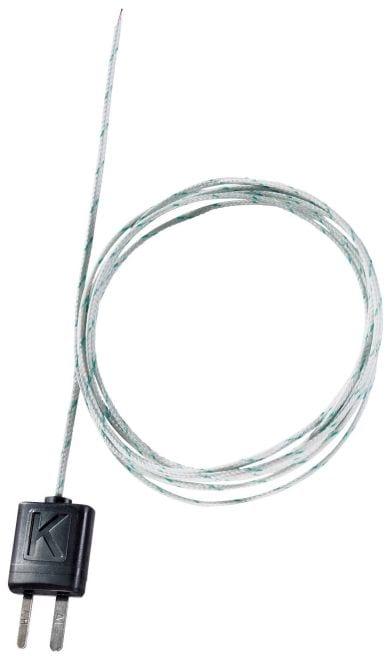 Flexible thermocouple - with TC type K temperature sensor (glass fibre)